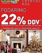 Lesnina katalog Podarimo 22 % DDV – pohištvo in dodatki