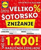 Lidl katalog Veliko šotorsko znižanje do 21. 09.
