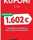Spar in Interspar katalog Darilni kuponi 7/2019