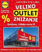 Lidl katalog Ljubljana Veliko Outlet znižanje Litijska