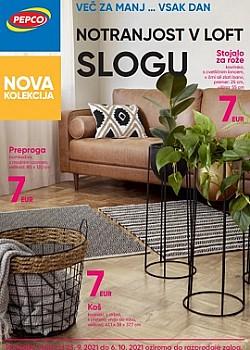 Pepco katalog Notranjost v loft slogu