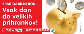 Spar Interspar darilni boni
