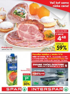 Spar in Interspar katalog do 3.3.