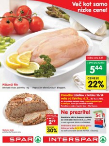 Spar in Interspar katalog od 6.3.