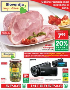 Spar in Interspar katalog od 13.3.