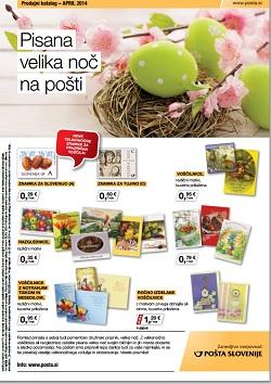 Pošta Slovenije katalog april 2014