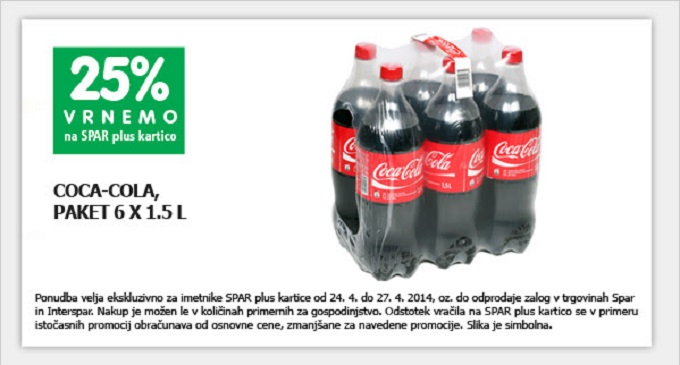Spar akcija Coca Cola