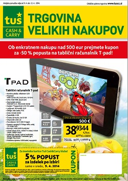 Tuš katalog Cash&Carry do 22.4.