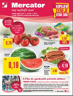 Mercator katalog Sosedove novice do 30. 7.