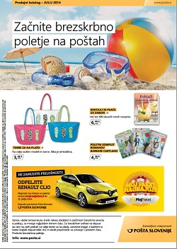 Pošta Slovenije katalog julij 2014