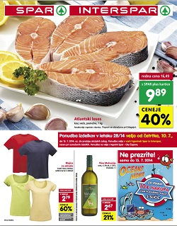 Spar in Interspar katalog od 10. 7.