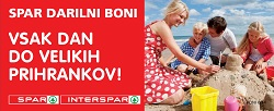 Spar in Interspar katalog Darilni boni do 29. 7.