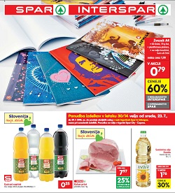 Spar in Interspar katalog od 23. 7.