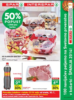 Spar in Interspar katalog od 30. 7.