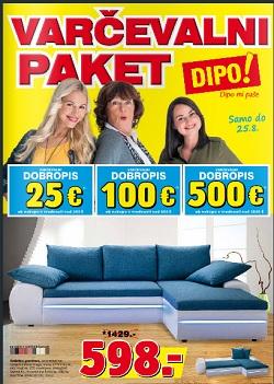 Dipo katalog Varčevalni paket do 25. 8.