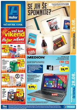 Hofer katalog od 25. 8. in od 28. 8.