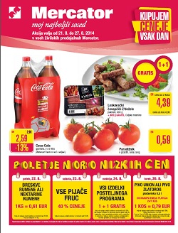 Mercator katalog Sosedove novice do 27. 8.