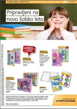 Pošta Slovenije katalog avgust 2014