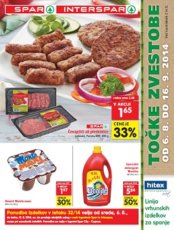 Spar in Interspar katalog od 6. 8.