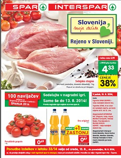 Spar in Interspar katalog od 13. 8.