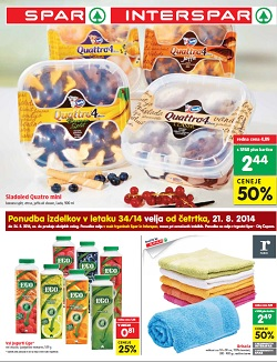 Spar in Interspar katalog od 21. 8.