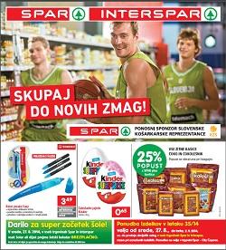 Spar in Interspar katalog od 27. 8.