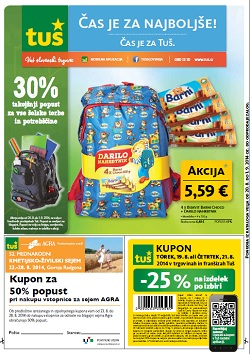 Tuš katalog trgovine in franšize do 1. 9.