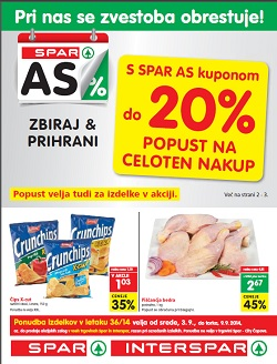 Spar in Interspar katalog od 3. 9.