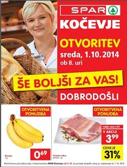Spar katalog Kočevje do 7. 10.