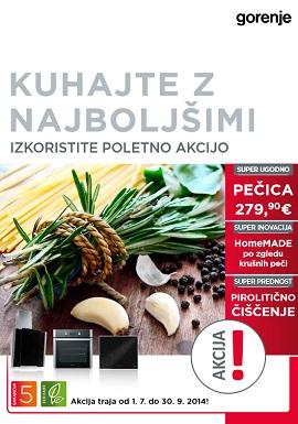 Gorenje katalog Akcija kuhalnih aparatov