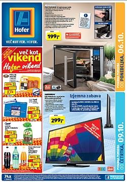 Hofer katalog od 6. 10., in od 9. 10.