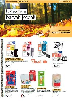 Pošta Slovenije katalog oktober 2014