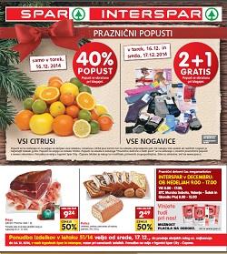 Spar in Interspar katalog do 24. 12.