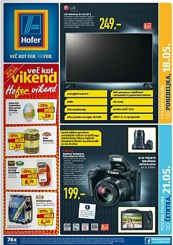 Hofer katalog od 18. 5., in od 21. 5.