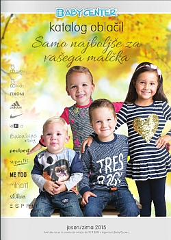 Baby Center katalog Oblačila jesen – zima 2015