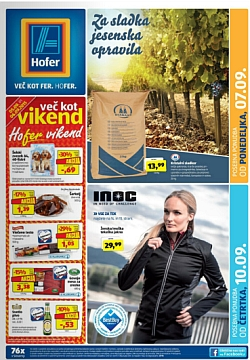 Hofer katalog od 7. 9., in od 10. 9.