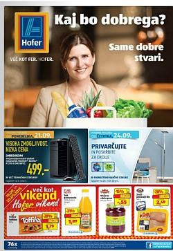 Hofer katalog od 21. 9., in od 24. 9.