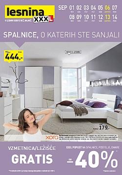Lesnina katalog spalnice do 15. 9.