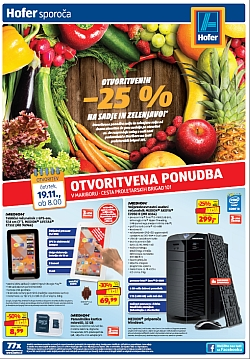 Hofer katalog Otvoritev Maribor 19. 11.