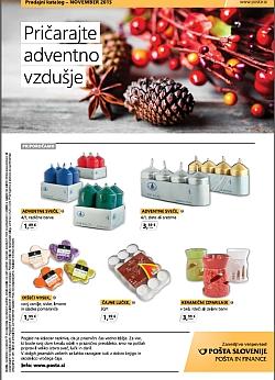 Pošta Slovenije katalog november 2015