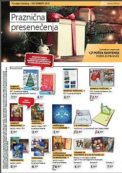 Pošta Slovenije katalog december 2015