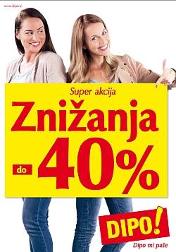Dipo katalog Znižanja do – 40 % do 13. 02.