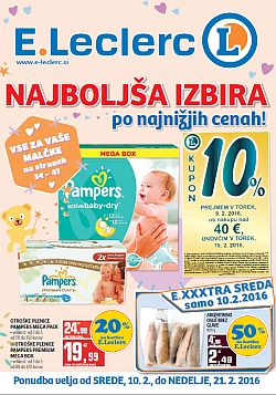 E Leclerc katalog Ljubljana do 21. 02.