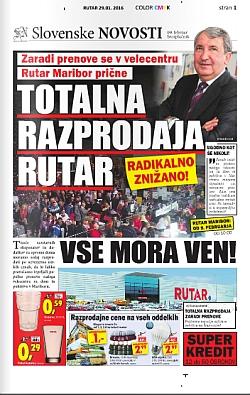Rutar katalog Totalna razprodaja Maribor