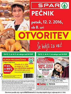 Spar katalog Otvoritev Pečnik Ljubljana