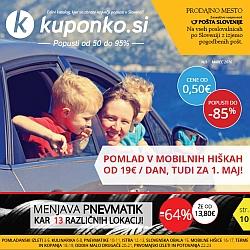 Kuponko katalog marec 2016