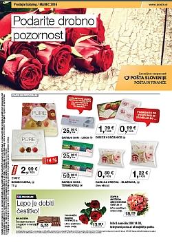 Pošta Slovenije katalog marec 2016