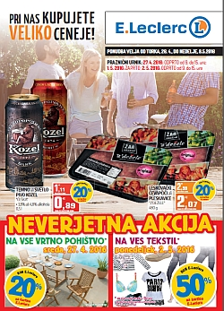 E Leclerc katalog Maribor do 08. 05.
