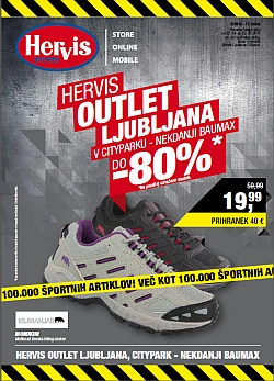 Hervis katalog Outlet Ljubljana do 03. 05.