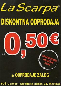 La Scarpa katalog Diskontna odprodaja Maribor
